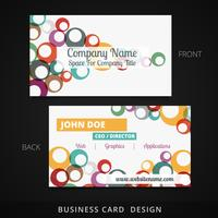 colorful circle business card vector design