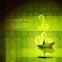 arte de estrela verde vetor