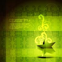 Vektor grüne Sterne Kunstwerk