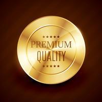 premium kvalitet guld knapp vektor design