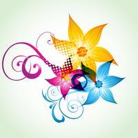 färgstarkt blomma konstverk