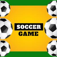 juego de futbol vector