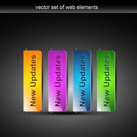 boutons web colorés élégants