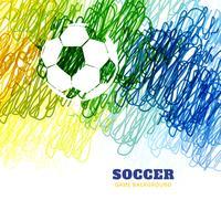 vetor de futebol colorido