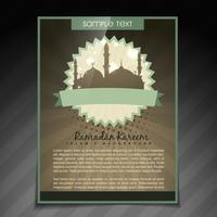folleto de ramadan kareem