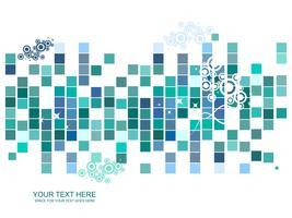 Diseño colorido patrón de mosaico