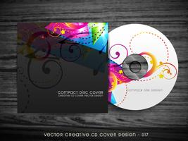 design coloré de pochette de cd