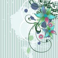 diseño floral del vector