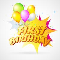 illustrazione del primo compleanno esplosione