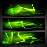 vector green abstract banner set 3