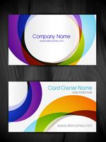 plantilla de tarjeta de visita abstracta colorida vector