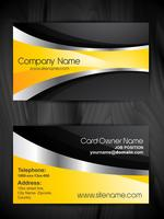stylish business card template design vector