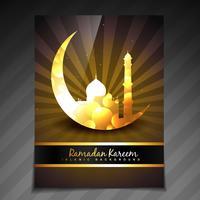 gouden ramadan sjabloon