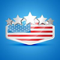 etichetta della bandiera americana