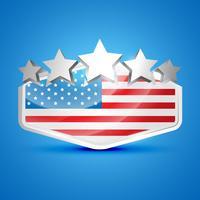 Amerikanische Flagge Label