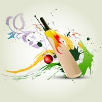 batte de cricket de vecteur