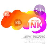 colorful ink splash flowing vector design background