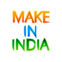 make in india message in indian tri colors of flag