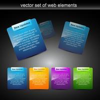 Vektor-Webelemente für Webprojekte
