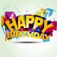 happy birthday illustration vector