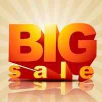 vetor de grande venda