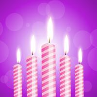 illustration of shiny candles