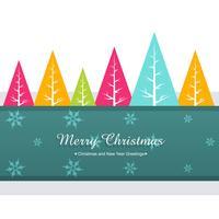 saludo de navidad colorido