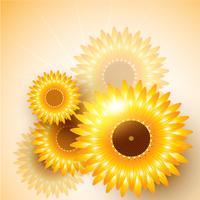 vector zonnebloem