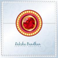 glänzender Rakhi Vektor Hintergrund