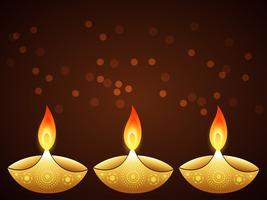 elegante diwali saudação