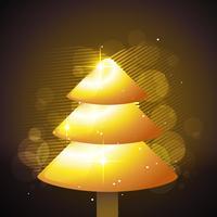 arbre de noël doré
