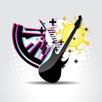 Abstract guitar art vector