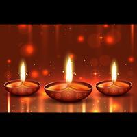 Fondo brillante de diwali