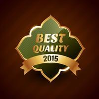 beste kwaliteit van 2015 gouden label badge ontwerpsymbool