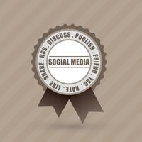 étiquette de badge social