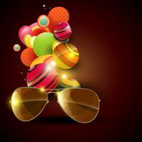 vetor de óculos de sol