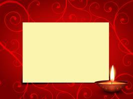 saudação de diwali de vetor