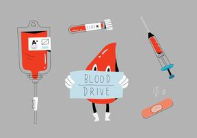illustration vectorielle de blood drive tools