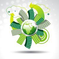 terre vecteur verte