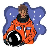 An Inspiring Woman of Color Astronaut Illustration