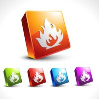 vector flame style icon