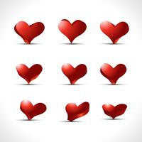 vector set of hearts