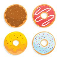 delicioso donuts vector