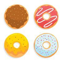 Köstliche Donuts Vektor