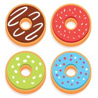 Vetor de donuts plana