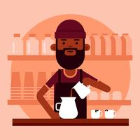 Illustration de Barista