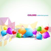 ilustraciones abstractas de cubo colorido