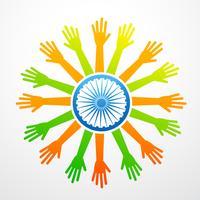 diseño de la bandera India vector