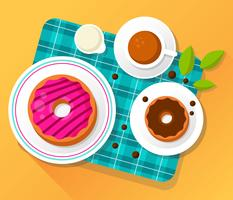 beignets vector illustration