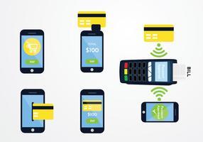 Betala med Telefon Vector Pack